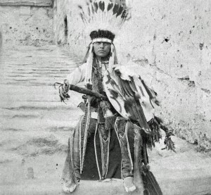 Howling Wolf, Southern Cheyenne, picture take while imprisoned at Fort Marion in Florida